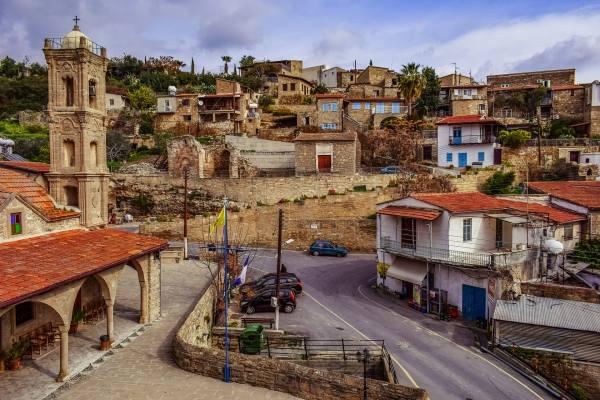 деревня на острове Кипр