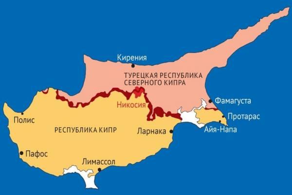 разделение острова Кипр на 2 государства