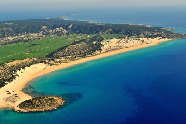 курорт Кипр золотой пляж