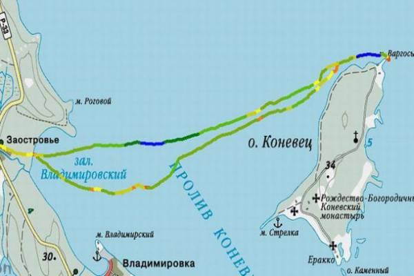 путь до острова Коневец ЛО
