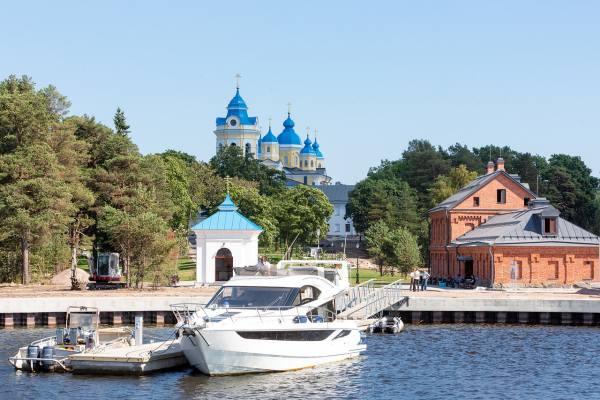 пристань Коневец Ленинградской области