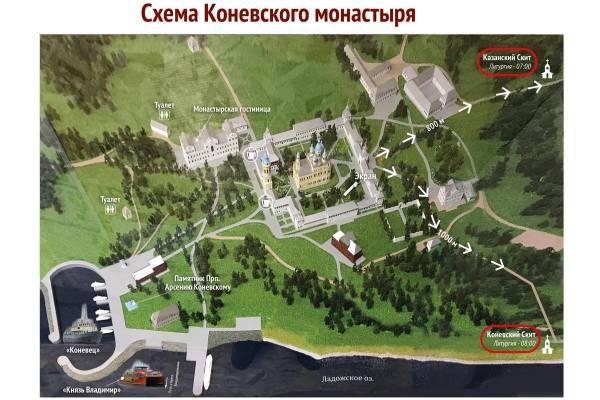 схема Коневского монастыря
