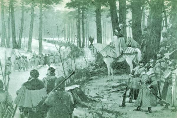 историческая зарисовка охоты в Беловежской пуще