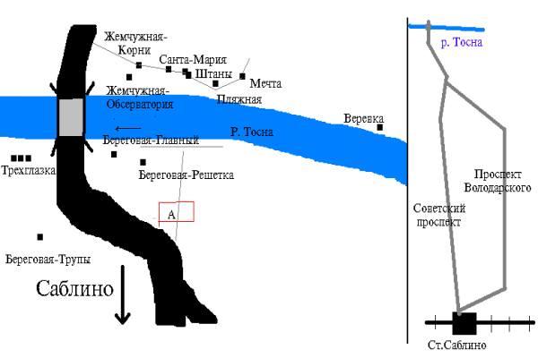 схема пещер саблинских