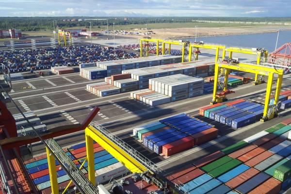 контейнерный терминал Усть-Луга порт